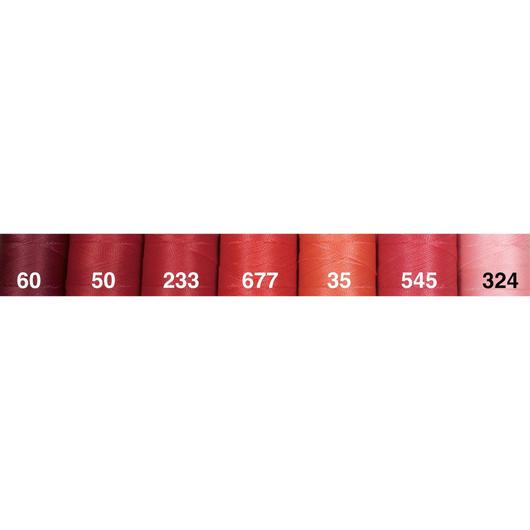 <108色・赤系>Linhasita社製ワックスコード0.75mm(ロウビキ紐・蝋引き紐 ・waxcord)