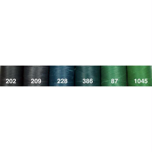 <108色・緑系>Linhasita社製ワックスコード0.75mm(ロウビキ紐・蝋引き紐 ・waxcord)