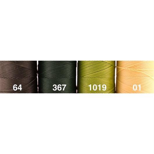 <118色・緑黄系>Linhasita社製ワックスコード0.75mm(ロウビキ紐・蝋引き紐 ・waxcord)