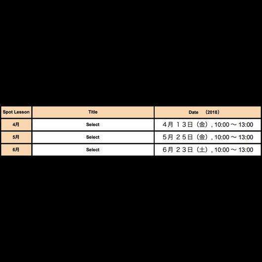 Spot Lesson 5月【Select】仮予約チケット(anudoのマクラメワークショップLevel1以上を受講済みの方のみ)