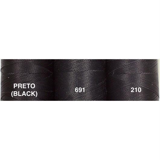 <108色・黒系>Linhasita社製ワックスコード0.75mm(ロウビキ紐・蝋引き紐 ・waxcord)