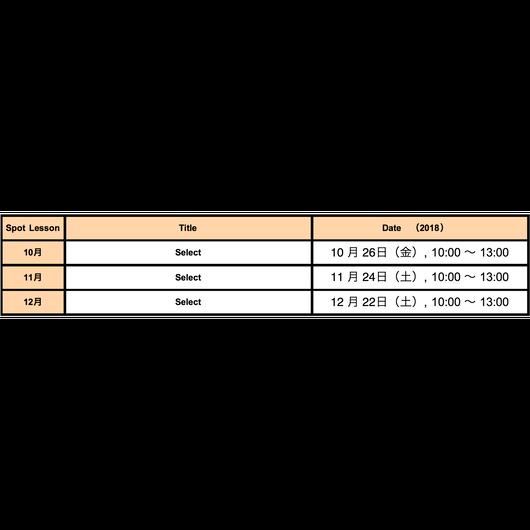 Spot Lesson 10月【Select】仮予約チケット(anudoのマクラメワークショップLevel1以上を受講済みの方のみ)
