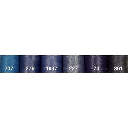 <108色・青系>Linhasita社製ワックスコード0.75mm(ロウビキ紐・蝋引き紐 ・waxcord)