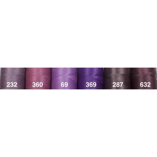 <118色・紫系>Linhasita社製ワックスコード0.75mm(ロウビキ紐・蝋引き紐 ・waxcord)