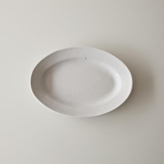 FRANCE / 白釉オーバル皿