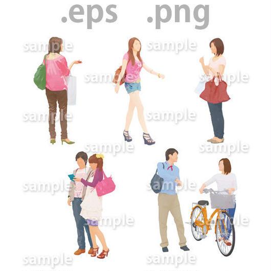 ファミリーイラスト (EPS , PNG )   fa_005