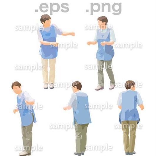 介護スタッフイラスト (EPS , PNG )   se_263