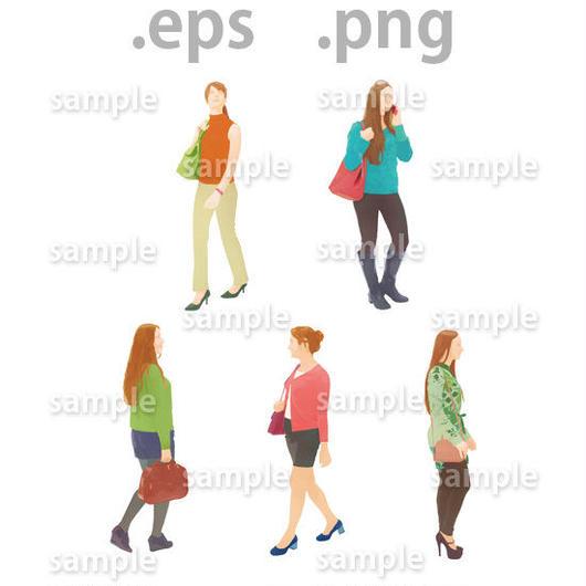 外国人イラスト (EPS , PNG )   gl_012