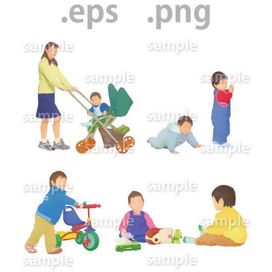 子供イラスト (EPS , PNG )   ch_002