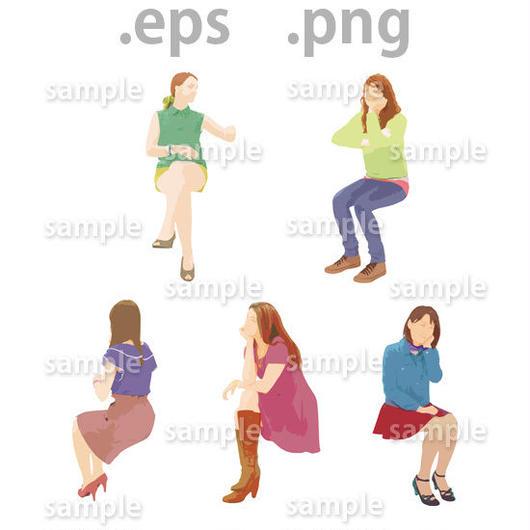 外国人イラスト (EPS , PNG )   gl_021