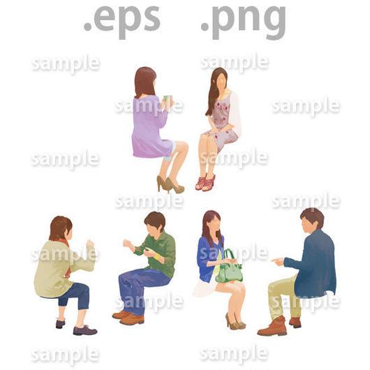 ファミリーイラスト (EPS , PNG )   fa_023
