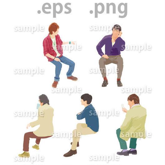 外国人イラスト (EPS , PNG )   gl_018