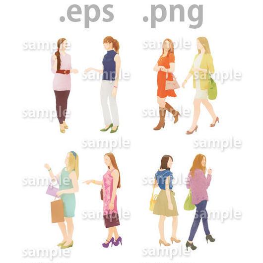外国人イラスト (EPS , PNG )   gl_004