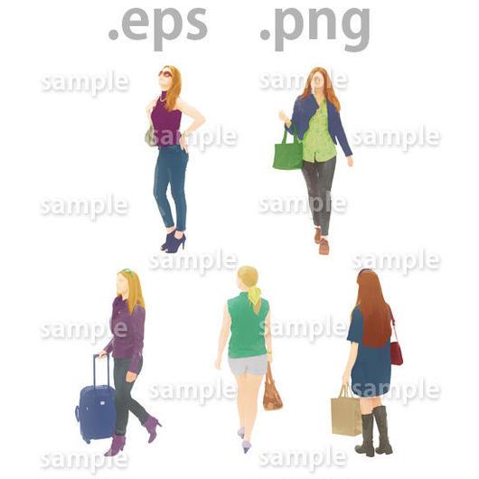 外国人イラスト (EPS , PNG )   gl_013