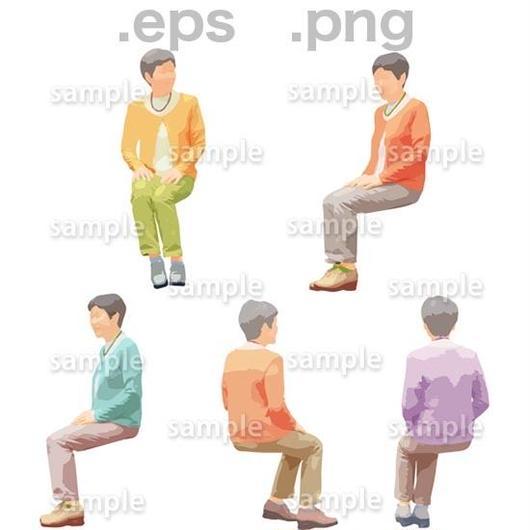 シニアイラスト (EPS , PNG )   se_171