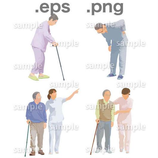 シニアイラスト (EPS , PNG )   se_008