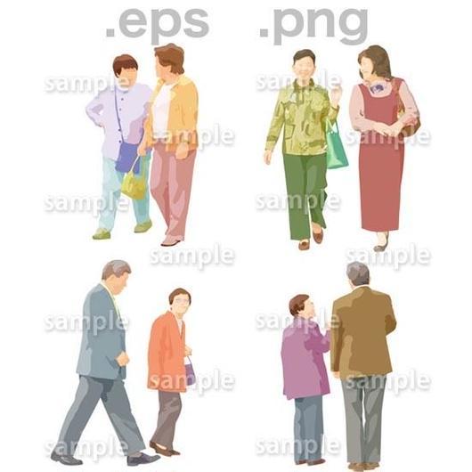 シニアイラスト (EPS , PNG )   se_025