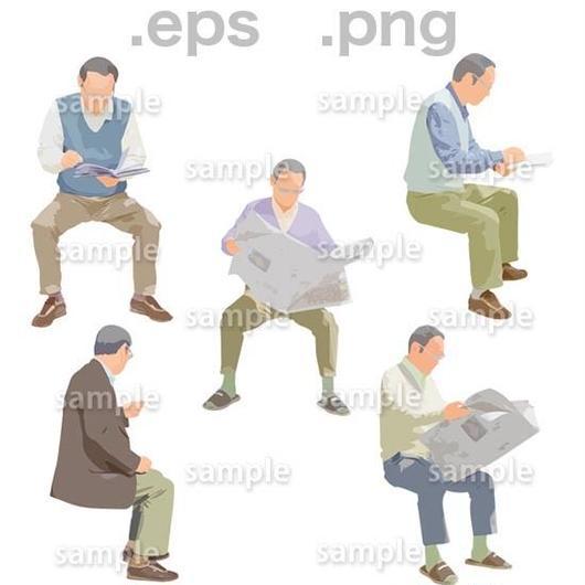 シニアイラスト (EPS , PNG )   se_191