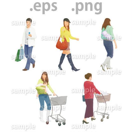 ファミリーイラスト (EPS , PNG )   fa_003