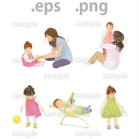 子供イラスト (EPS , PNG )   ch_004