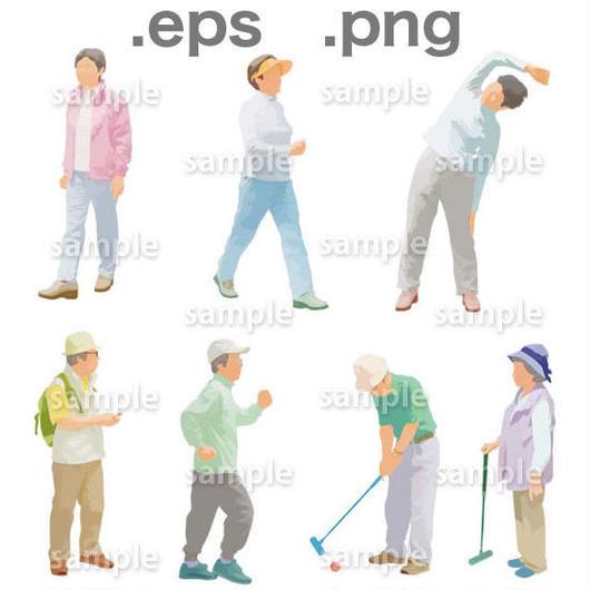 シニアイラスト (EPS , PNG )   se_004