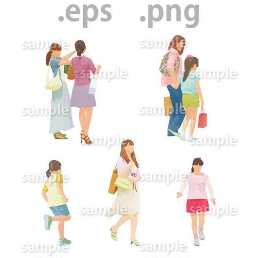 ファミリーイラスト (EPS , PNG )   fa_004