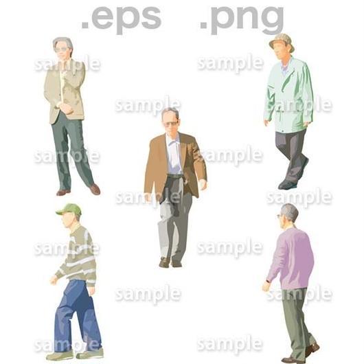 シニアイラスト (EPS , PNG )   se_045
