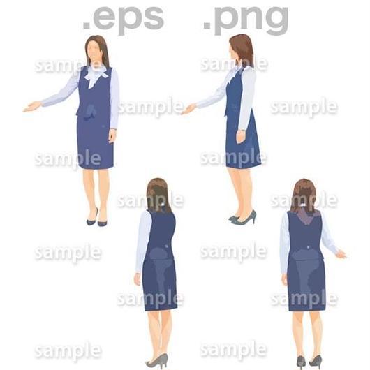 事務スタッフイラスト (EPS , PNG )   se_271
