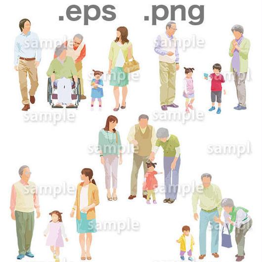 シニアイラスト (EPS , PNG )   se_001