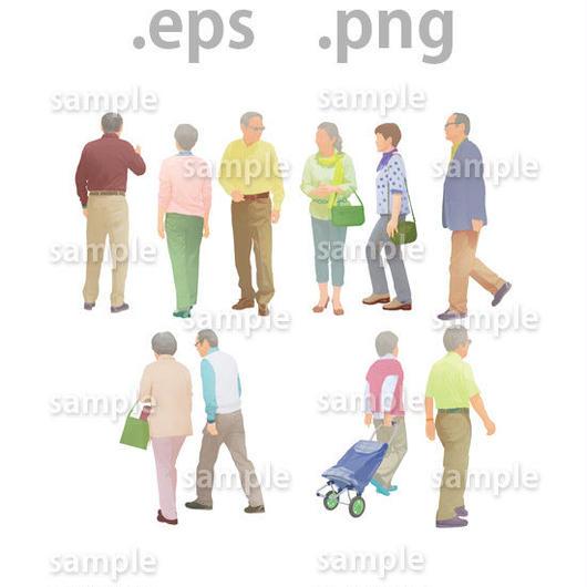 シニアイラスト (EPS , PNG )   se_012