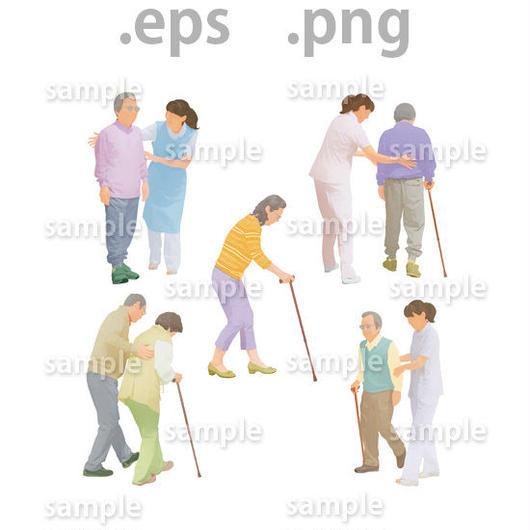 シニアイラスト (EPS , PNG )   se_018