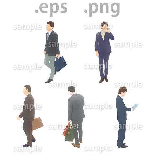 ビジネス人物イラスト (EPS , PNG )   bu_012