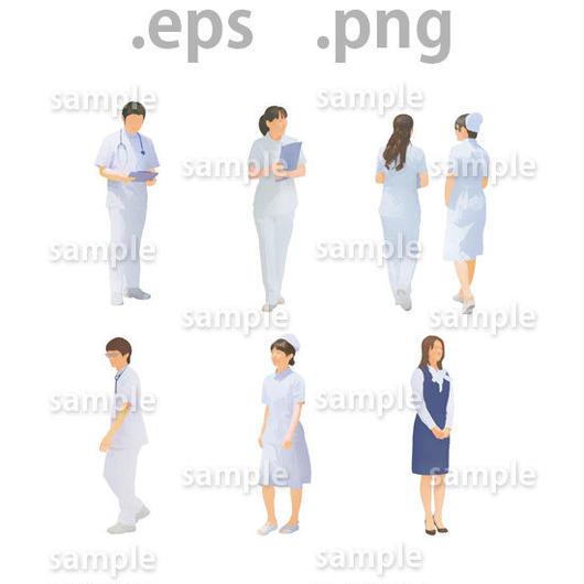 医療スタッフイラスト (EPS , PNG )   se_021