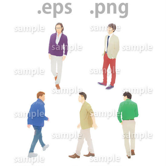 外国人イラスト (EPS , PNG )   gl_009