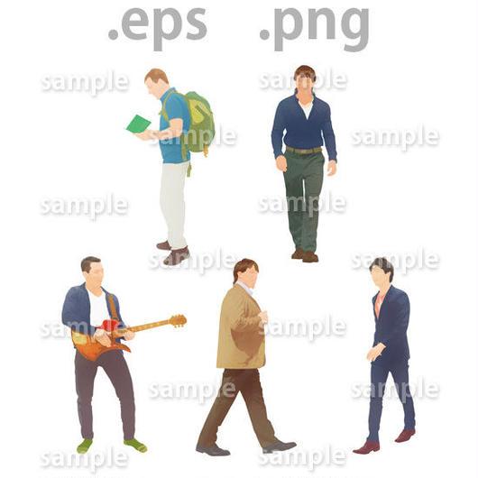 外国人イラスト (EPS , PNG )   gl_008
