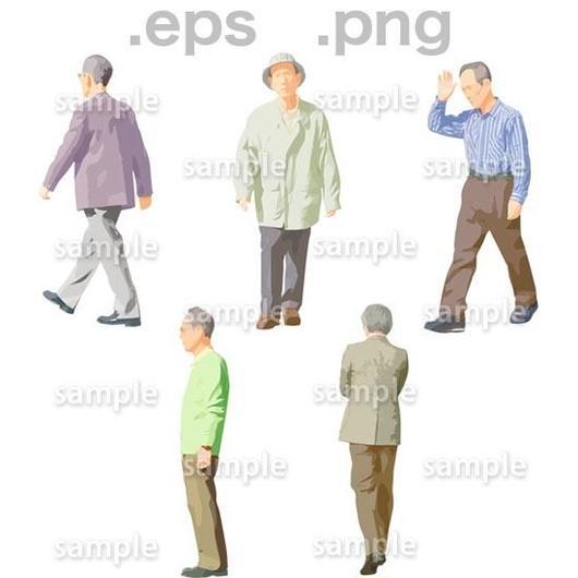シニアイラスト (EPS , PNG )   se_050