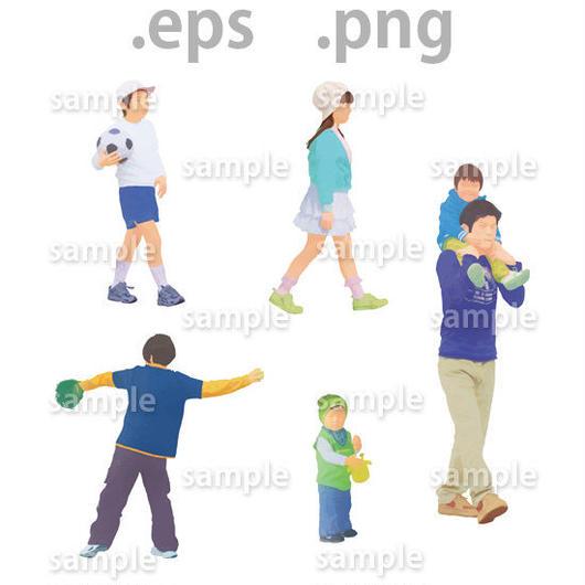 子供イラスト (EPS , PNG )   ch_001