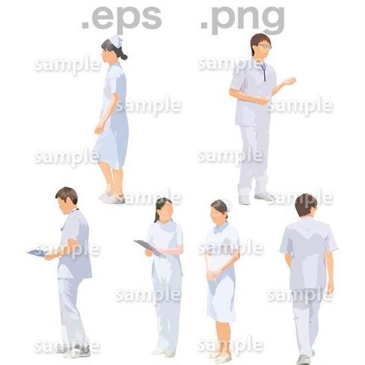 医療スタッフイラスト (EPS , PNG )   se_268