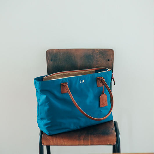 LIF Camera Tote Bag / BLUE
