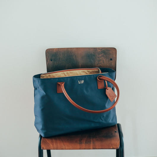 LIF Camera Tote Bag  / Navy