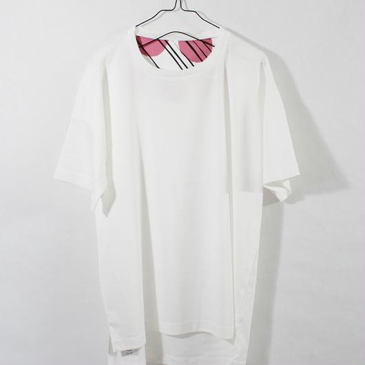 ASENDADA T-shirt  / White×Cloudy