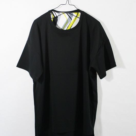 ASENDADA T-shirt  / Black×Go 2