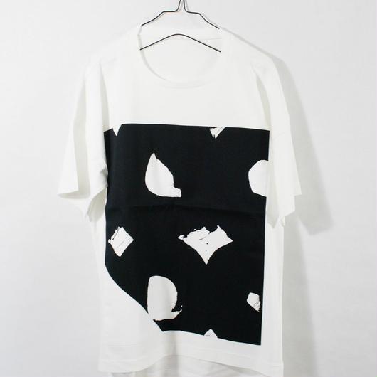 ASENDADA T-shirt  / White×Bird