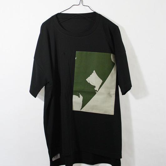 ASENDADA T-shirt  / Black×Bird