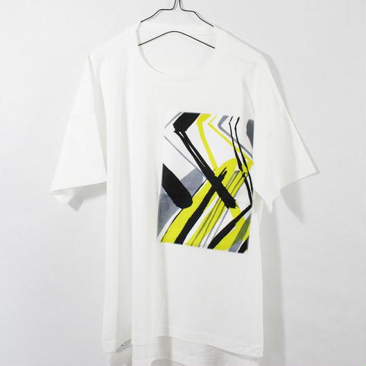 ASENDADA T-shirt  / White ×Go