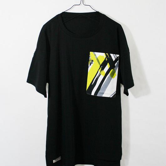 ASENDADA T-shirt  / Black×Go 1