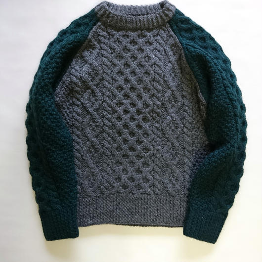 makufuri Hand Knit Fisherman<Ivy Green Mix>
