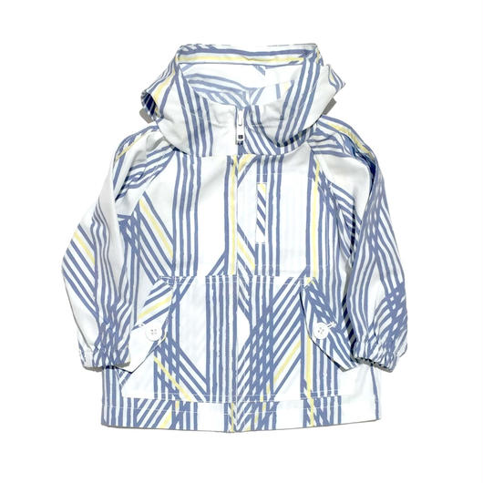 【ARCH&LINE】PRINT POCKETABLE PARKA(BLUE)85-155cm