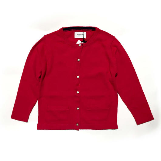 【ARCH&LINE】KNIT CARDIGAN SOLID(RED)85-150cm