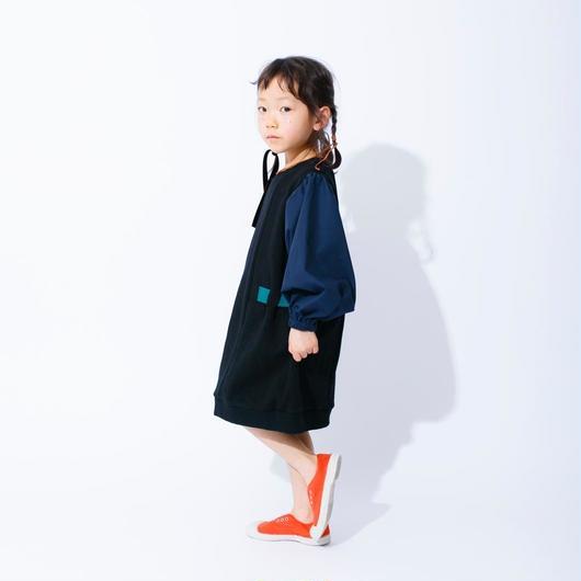 nunuforme /ビッグスリーブスウェット Black  95-145cm